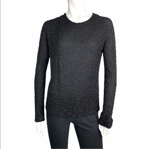 Lafayette 148 beaded stretchy long sleeve top
